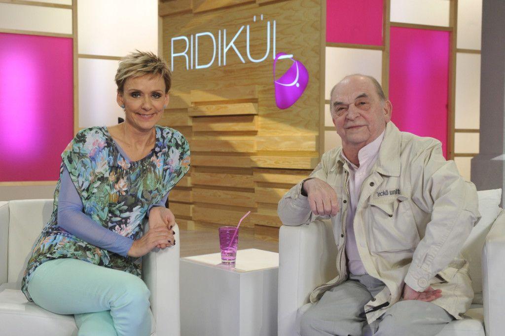 Jakupcsek Gabriella és Bodrogi Gyula a műsor felvételén
