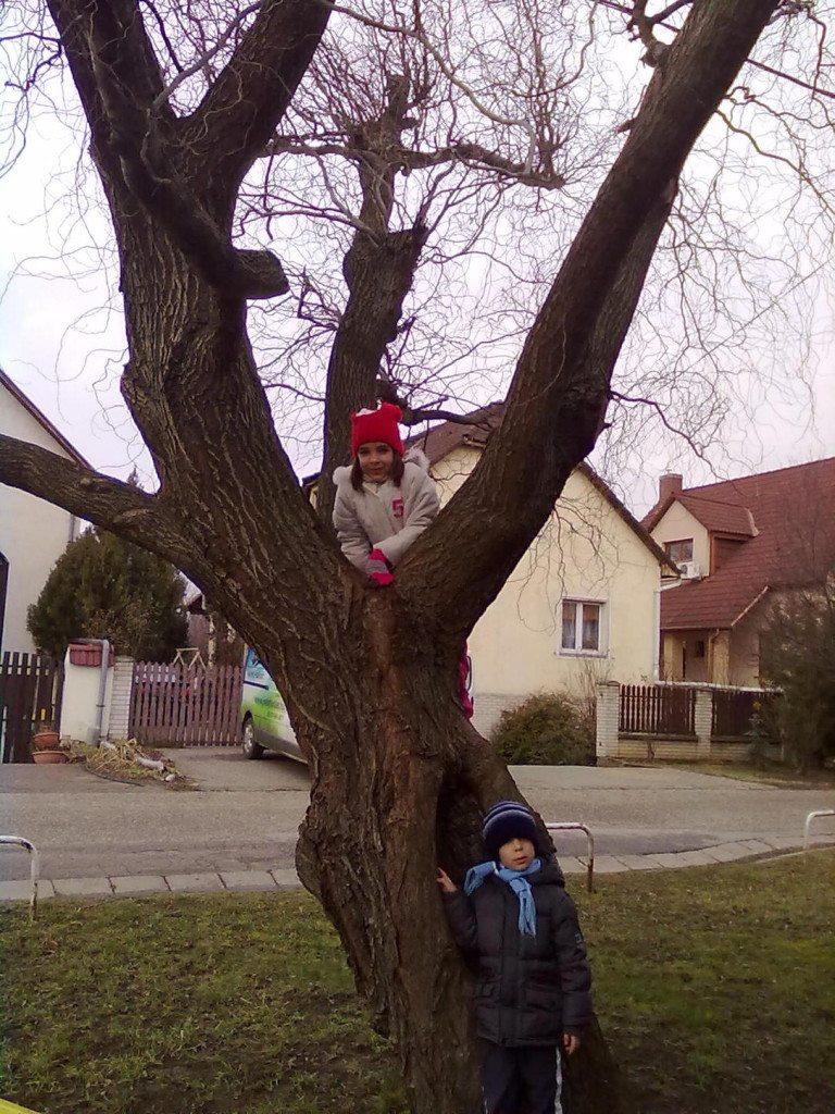 fűzfa - Dezső Laura, 6 éves és Dezső Antal 4 éves -Níregyháza