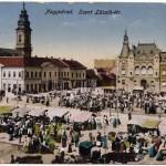 Nagyvárad - a Szent László tér hajdani piaci forgataga