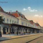 Nagyvárad - a vasútállomás egy régi képeslapon
